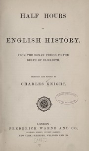 Cover of: Half hours of English history