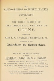 Cover of: The Carlyon Britton collection of coins | Sotheby, Wilkinson & Hodge