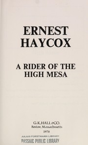 Cover of: A rider of the high mesa