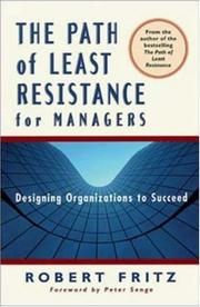 Cover of: The Path of Least Resistance for Managers | Robert Fritz