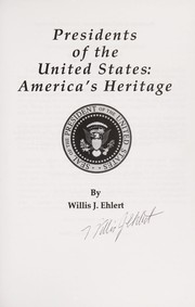 Cover of: Presidents of the United States | Willis J. Ehlert