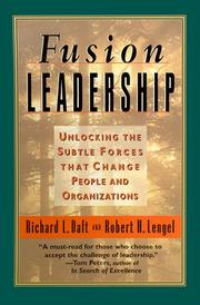 Cover of: Fusion Leadership (Tr) | Richard L. Daft