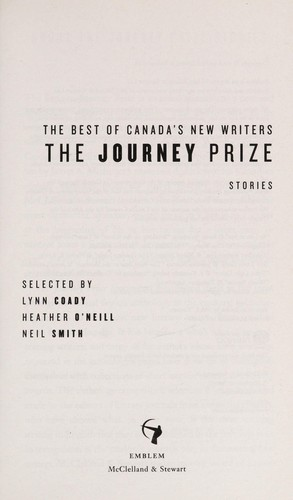 The Journey prize stories by Lynn Coady