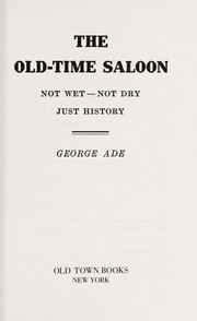 Cover of: The old-time saloon