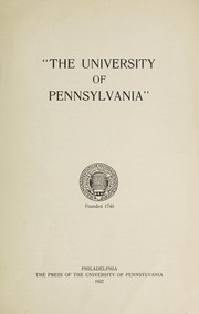 Cover of: The University of Pennsylvania