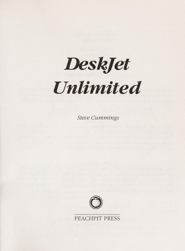 DeskJet unlimited by Steve Cummings