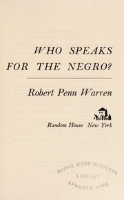 Cover of: Who speaks for the Negro?