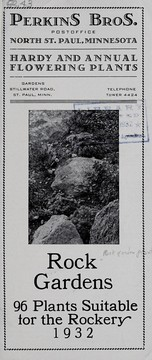 Cover of: Rock gardens, 96 plants suitable for the rockery, 1932 | Perkins Bros