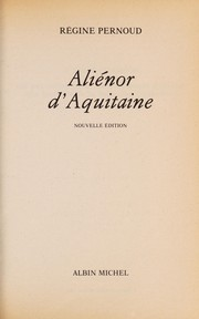Cover of: Aliénor d'Aquitaine