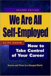 Cover of: We are all self-employed | Cliff Hakim