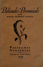 Cover of: Palisades perennials and rock-garden plants, 1932 1933 | Palisades Nurseries