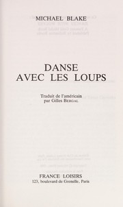 Cover of: Danse avec les loups by Blake, Michael