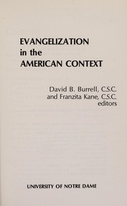 Cover of: Evangelization in the American context |
