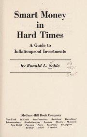 Cover of: Smart money in hard times