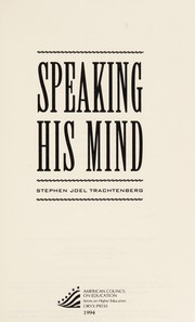 Cover of: Speaking his mind