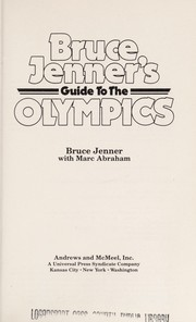 Cover of: Bruce Jenner's Guide to the Olympics