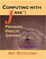 Cover of: Computing with Java