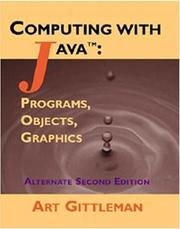 Cover of: Computing with Java | Art Gittleman