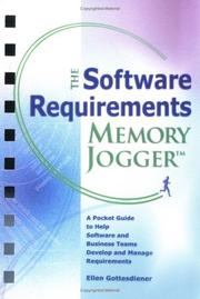 Cover of: The Software Requirements Memory Jogger