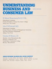 Cover of: Understanding business and consumer law