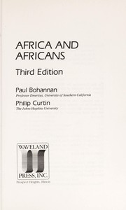 Cover of: Africa and Africans | Paul Bohannan
