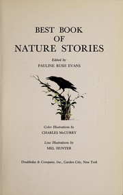 Cover of: Best book of nature stories. | Pauline Rush Evans