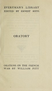 Cover of: Orations on the French war, to the peace of Amiens