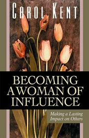 Cover of: Becoming a Woman of Influence