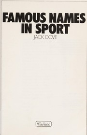Cover of: Famous names in sport | Jack Dove