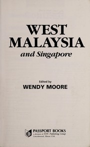 Cover of: West Malaysia and Singapore