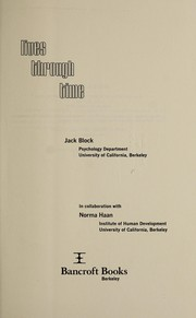Cover of: Lives through time | Jack Block
