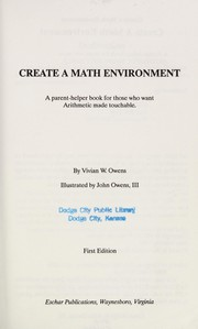 Cover of: Create a math environment