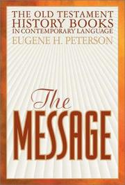 Cover of: The Message | Eugene H. Peterson