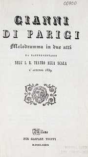 Cover of: Gianni di Parigi