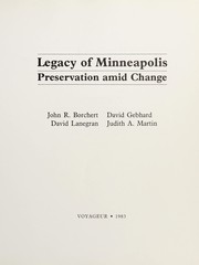 Cover of: Legacy of Minneapolis