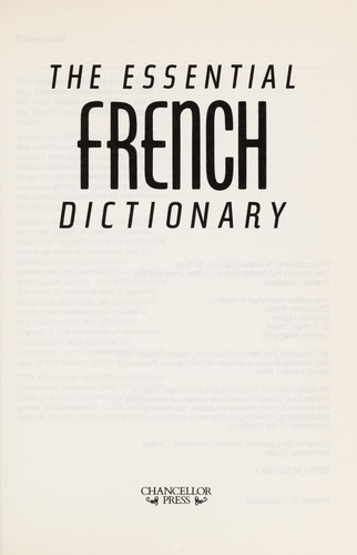 The Essential French Dictionary by Chancellor Press