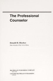 Cover of: The professional counselor