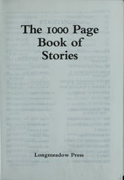 Cover of: The 1000 page book of stories