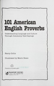 Cover of: 101 American English proverbs
