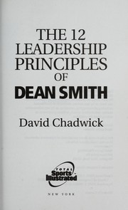 Cover of: The 12 Leadership Principles of Dean Smith