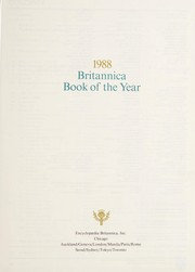 Cover of: 1988 Britannica book of the year | Daphne Daume