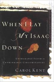 Cover of: When I Lay My Isaac Down
