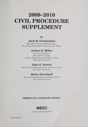 2009-2010 civil procedure supplement