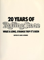 Cover of: 20 years of Rolling stone : what a long, strange trip it's been