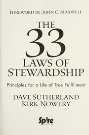 Cover of: The 33 laws of stewardship