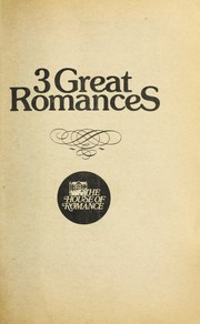Cover of: 3 Great Romances - The Crystal Cage; Tomorrow's Promise; the Inconvenient Marriage (The House of Romance, Trio 6)