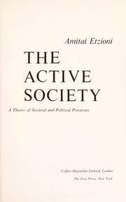 Cover of: The active society