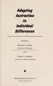 Cover of: Adapting instruction to individual differences |