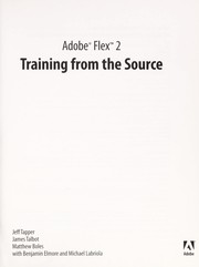 Cover of: Adobe Flex 2 : training from the source