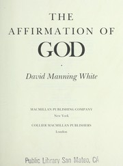 Cover of: The Affirmation of God |